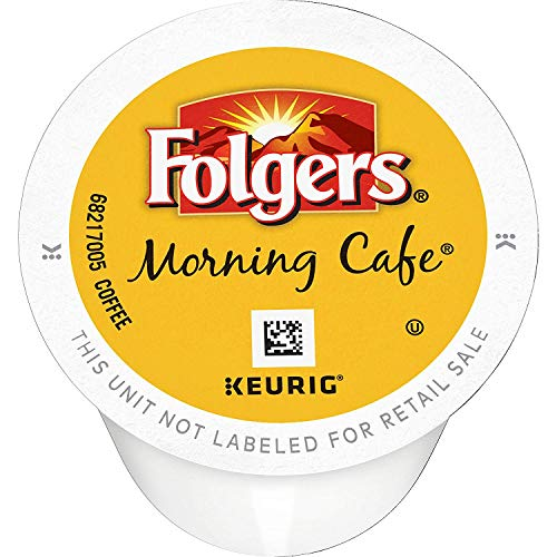 Folgers Morning Café Coffee, Mild Roast, K Cup Pods for Keurig Coffee Makers, 144 Count