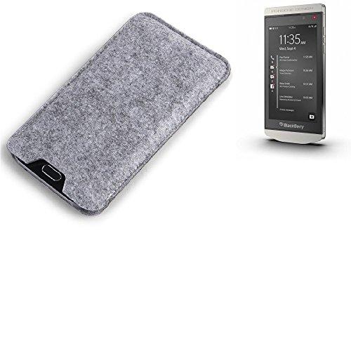 K-S-Trade Filz Schutz Hülle für BlackBerry Porsche Design P9982 Schutzhülle Filztasche Filz Tasche Case Sleeve Handyhülle Filzhülle grau