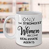 N\A Regalos para Agentes inmobiliarios Taza inmobiliaria: Solo Las Mujeres más Fuertes se convierten en Agentes inmobiliarias Taza de café Regalos para Agentes inmobiliarios