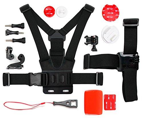 DURAGADGET Kit de Accesorios para Cámara de acción Nilox EVO 360 / EVO 4K / EVO 4K+