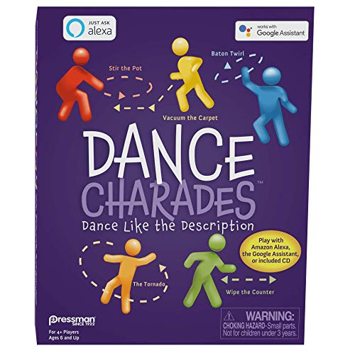 Pressman Dance Charades Game: Can Be Played with Included CD, Alexa Skills or Google Assistant, 5' (0771-06)