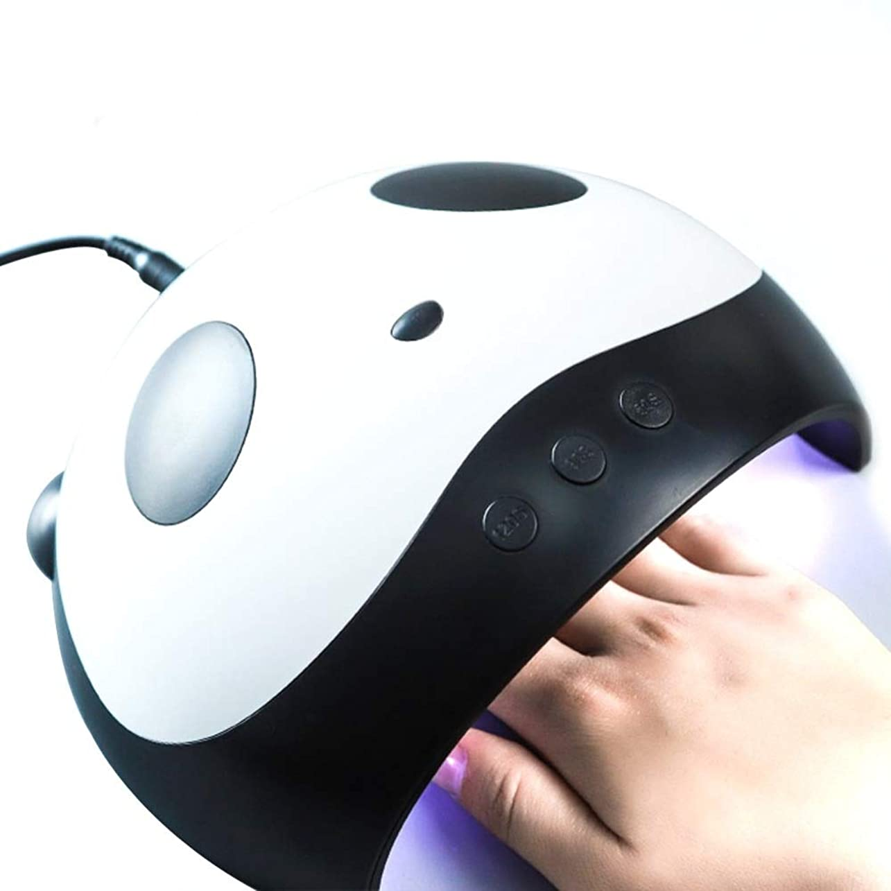 ボーカル量実用的Cute Panda Shaper UV Lamp 36W LED Nail Dryer Manicure Lamps Double Light Auto Motion Drier For Curing Gel Polish Nail Art Tools かわいいパンダUVランプ36W LEDのネイルドライヤーマニキュアランプダブルライトオートモーションドライヤーゲル硬化のためのネイルアートツール