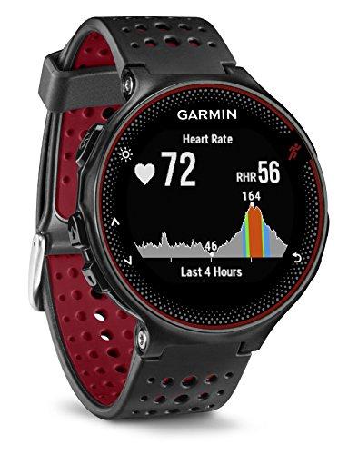 Garmin Forerunner 235 - Reloj con pulsómetro en la muñeca, Unisex, Color Negro y Rojo, Talla...
