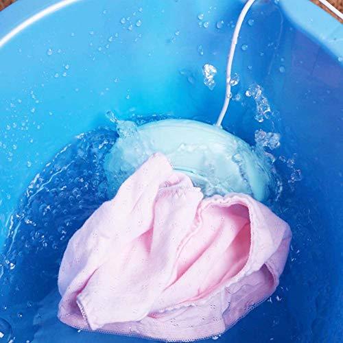 CHSHY mini lavatrice, portatile ultrasuoni turbina lavatrice, centrifuga asciugatrice lavanderia rondella per viaggi casa vestiti verdura frutta biancheria intima calzini,Blue