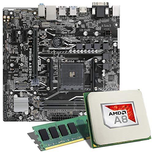 AMD A8-9600 / ASUS Prime A320M-K / 8GB Mainboard Bundle | CSL PC Aufrüstkit | AMD A8-9600 4X 3100 MHz, 8GB DDR4-RAM, GigLAN, 7.1 Sound, USB 3.1 | Aufrüstset | PC Tuning Kit