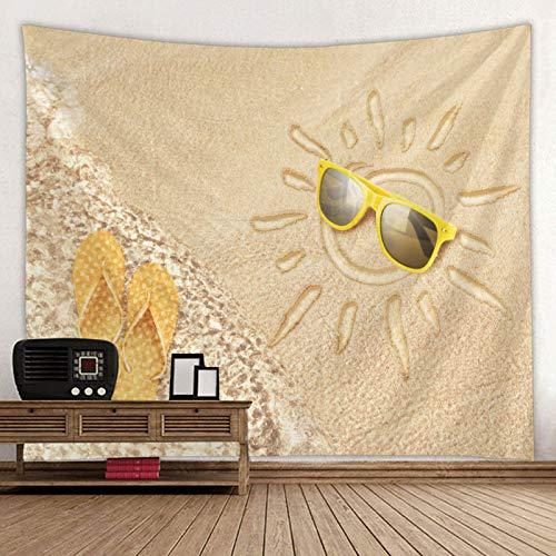 KHKJ Tapiz Colgante de Pared Colcha Playa Torre Mantel decoración del hogar Hermoso diseño de Playa Tapiz A6 200x150cm