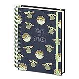Taccuino con copertina rigida, formato A5, motivo: Star Wars, The Mandalorian Naps and Snacks