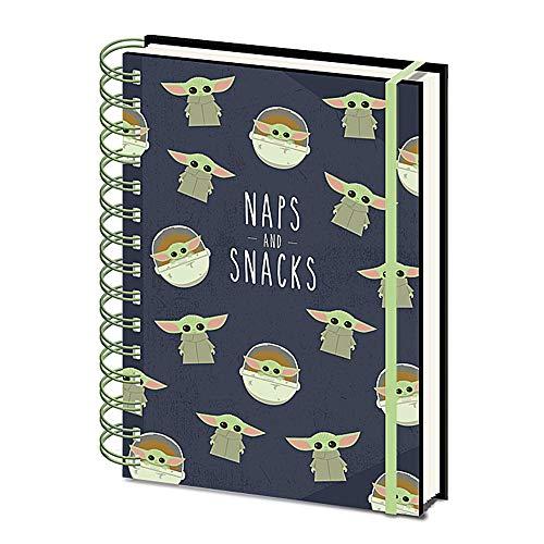 Notizbuch mit Spiralbindung, A5, Motiv Star Wars The Mandalorian Naps and Snacks