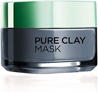 L'Oreal Paris Pure Clay Clay Mask, Detoxify with Charcoal, 50ml