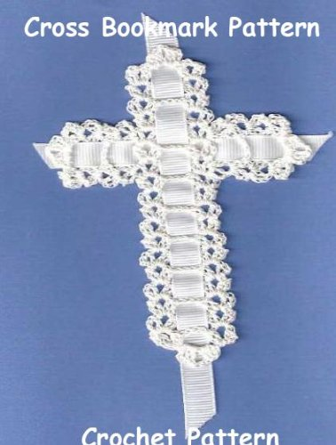 Crochet Cross, Page Marker, Cross Christmas-Easter Religious, Crochet Bookmark Pattern for Bible: Sold Only By DJ Powell