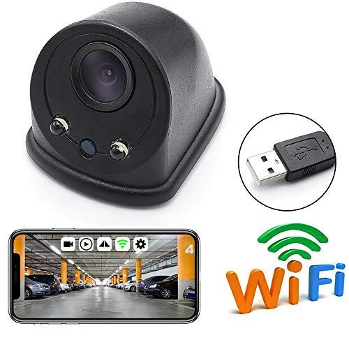 PolarLander 5V Auto USB Draadloos WIFI Blind Spot Voor Achter Zijaanzicht DVR Camera 1280 * 720 WiFi Auto Camera voor iPhone en Android door APP