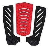 Tabla de Surf Tail Pad EVA Almohadillas de tracción Antideslizantes Surf Deportes Accesorios Negro y Rojo