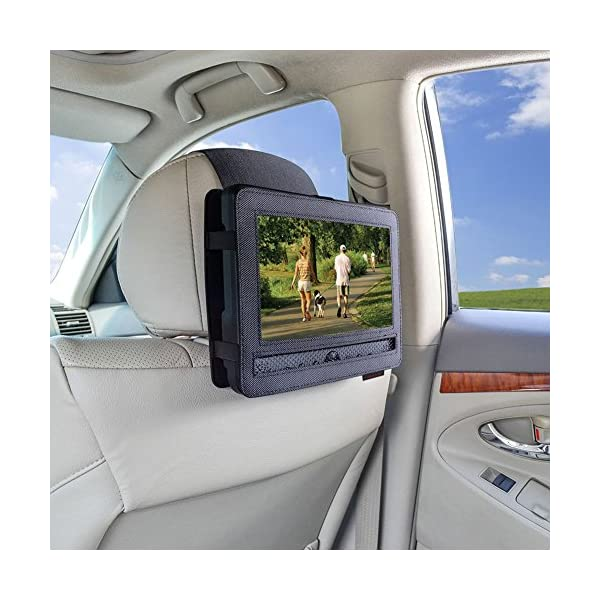 Car Headrest Mount Holder Strap for Swivel and Flip Style Portable DVD Player - 9 Inch to 9.5 Inch Screen 4