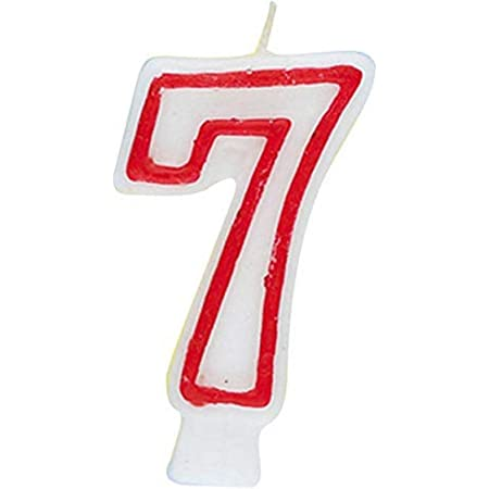 Number 7 Papyrus Birthday Candle Multi Large 1-Count plates