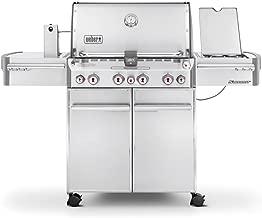Weber 7170001 Summit S-470 4-Burner Liquid Propane Grill, Stainless Steel