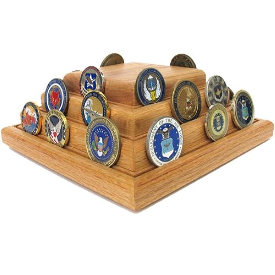 Wooden Pyramid Coin Display