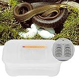HEEPDD Incubadora de Huevos de Reptiles, 12 Compartimentos Bandejas de incubación de Huevos de Reptiles Caja de incubadora con termómetro para incubar Lagartos Lagartos Gecko