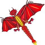 Cometas 160*130CM Cometa de animales para adultos Juguetes al aire libre para niños Dragón de Hielo Dragón de Fuego Niños Cometa Diversión Volar Juguetes de Turismo al aire libre