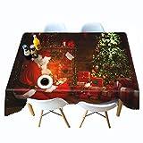 Shadow Mantel Gris Beige Natural Navidad Mantel Impreso en 3D cabaña Mantel de Personalidad de Navidad Mantel de Personalidad Colgante de Tela 152x228cm