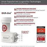 DUR-line +Ultra Quad LNB – 4 Teilnehmer weiß – mit LTE-Filter, 4-Fach, digital mit Wetterschutz, Full HD, 4K,Premium-Qualität - 2