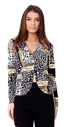Momo&Ayat Fashions Dames Barok Patroon Blazer Jas UK Maat 8-14