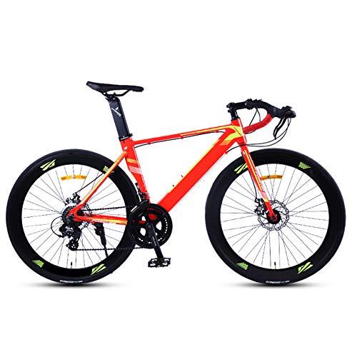 Rennrad 700c, Fahrrad Rennrad mit Shimano A070, 14 Speed Schaltgruppe Rennräder, 26 Zoll Fahrrad rennrad, für Damen und Herren Red 48cm