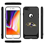 iPhone 8 Plus Case Ravens iPhone 7 Plus Cover Slim Soft Carbon Fiber Pattern Silicone TPU Protective Durable Snap on Shell for iPhone 7 Plus/8 Plus 5.5 Inches Black