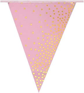 Party Tableware Pink Gold Dot Baby Girl Party Tableware paper Cup Plate 1st Birthday Party Decor Kids Baby Shower Party Su...