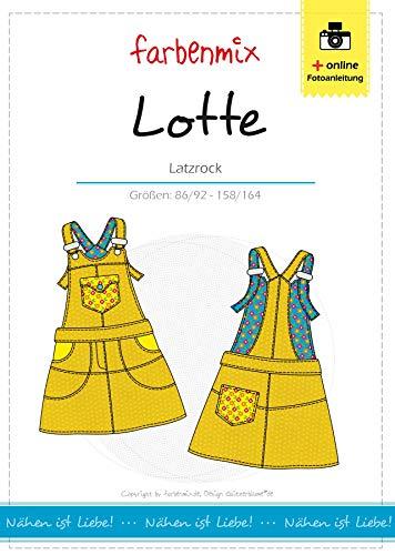 Lotte Farbenmix Schnittmuster (Papierschnittmuster für die Größen 86/92 - 158/164), Latzrock
