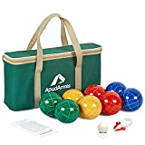 ApudArmis Bocce Balls Set, Outdoor Family Bocce Game for Backyard/Lawn/Beach - Set of 8 Poly-Resin Balls & 1...