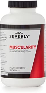 Beverly International Muscularity Specialty BCAA Formula, 180 Capsules. Don't let Your Fat-Loss Diet Steal Muscle from You.