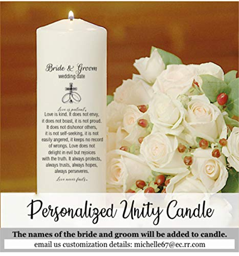 Unity Candles personalized in Spanish