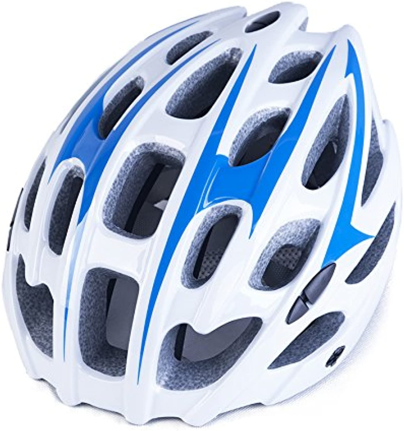 Bicycle Helmet, Cycling Helmet, Ventilated Low Wind Resistance Head Circumference Adjustable Head Circumference Size, Pgoldus (Men and Women),blueeewhite,57to62cm
