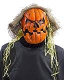 Zagone UV Black Light Orange Glow Pumpkin Mask Creepy Scary Jack-O-Lantern