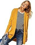 Street One Damen Canice Strickjacke, Knit Sulphur Yellow Melange, 38