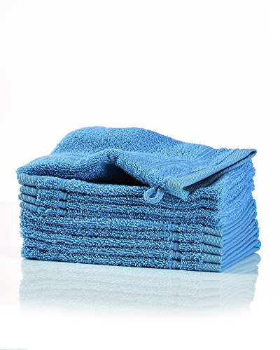 myHomery Waschlappen - Waschhandschuh aus Baumwolle Made IN EU - 10er-Set Wasch Lappen - Waschtuch für Gesicht und Körper - Lappen zum Waschen für Badezimmer und Dusche Navy-Blau   10er-Set