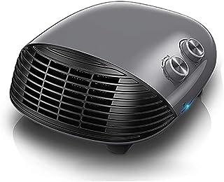 ZZLYY Calefactor de Aire con termostato Regulable, 2 Posiciones de Calor y función Ventilador, Habitación, Oficina, Baño,Gris