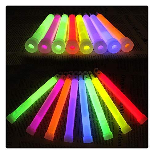 Yousiju 6 Zoll mehrfarbige Leuchtstab chemische Leuchtstab Camping Notfall Dekoration Party Club liefert chemische Leuchtstab, 100 Stück