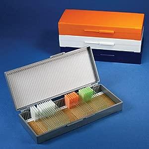Globe Scientific 513077A ABS Plastic Cork Lined Slide Storage Box for ...