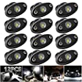 LEDMIRCY LED Rock Lights White 12PCS Kit for Off Road Truck ZRZ Auto Car Boat ATV SUV Waterproof High Power Neon Trail Rig Lights Shockproof(Pack of 12,White)