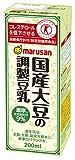 マルサンアイ 国産大豆の調整豆乳 パック200ml×24