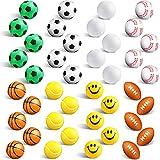 40 Pelotas Deportivos de Espuma Mini Bolas Antiestrés para Niños, Balones de Estrés a Granel Incluyendo Pelotas Deportivas de Baloncesto Voleibol Béisbol Fútbol Tenis Fútbol Americano