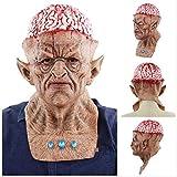 PMWLKJ Halloween Horror Mask Fear Party Haunted Tools Escape Bloody Scary Head Cover Accesorios de maquillaje Decoración Como se muestra I
