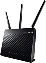 ASUS AC1900 Wireless Dual Band (5GHz + 2.4GHz) Gigabit Wi-Fi Router [RT-AC68U] Ultra-Fast 802.11ac 1900 Mbps Speed, 5X Gigabit LAN Ports, Broadcam TurboQAM Wi-Fi Acceleration, AiProtection Security