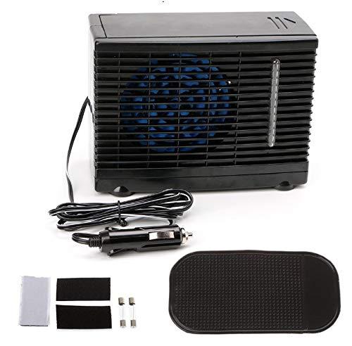 Ventilador de refrigeración para coche - 12V portátil para coche, mini coche, camión, aire acondicionado, ventilador frío, ventilador de agua evaporativo, enfriador con cigarrillo