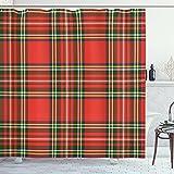 Impresión clásica de la cultura irlandesa a cuadros de la cultura clásica del cuarto de baño de la cortina de la ducha de la tela de impresión de la tela de