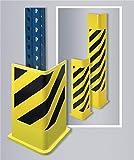 TTS Transport- und Trennwand-Systeme GmbH Schutzecken H1200xL180/180mm L-Form Stahlbl. schwarz/gelb