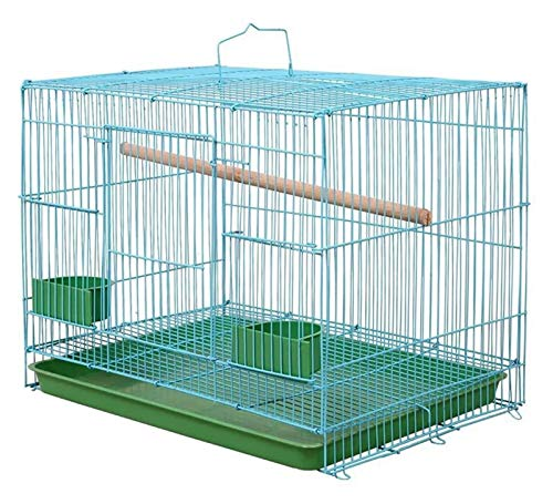 Pet Supplies, Rectangular Metal Cages For Small Birds, Parrots And Canaries (Size : Large)