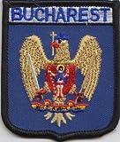 Bukarest Rumänien Flagge bestickt Patch Badge