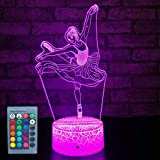 FlyonSea Kids Ballet Gifts,Ballet Girls Light Ballet Dancer 16 Color Changing Nightlight with Touch and Remote Control, Ballet Art Decor Light Birthday Christmas Gifts for Kids Girls Baby